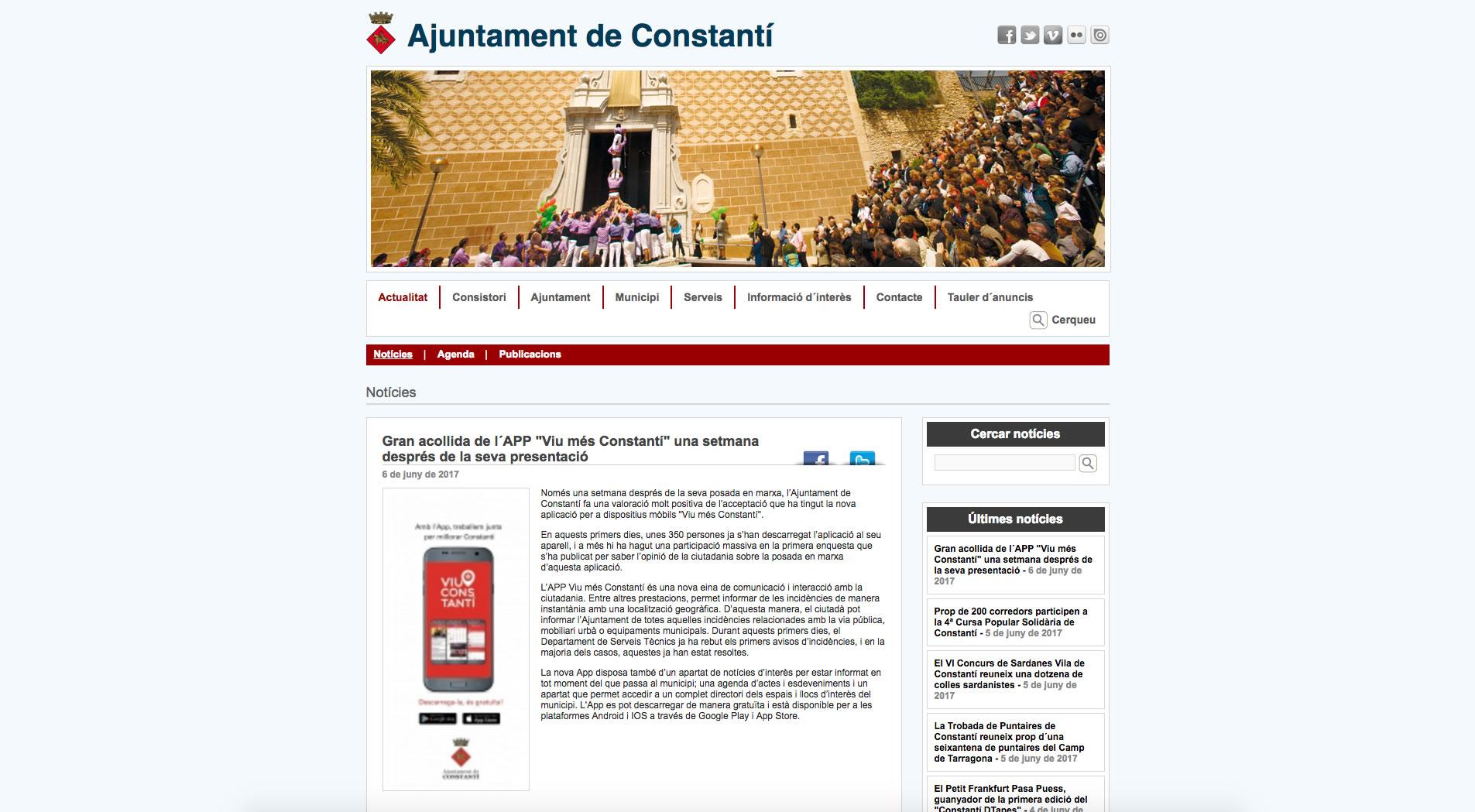 """Gran acollida de l´APP """"Viu més Constantí"""" una setmana després de la seva presentació"""